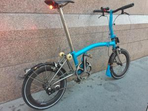 Folding Bike Blue
