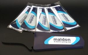 Maldon & District CC Mudflaps and Saddle Flaps packaged and ready to send